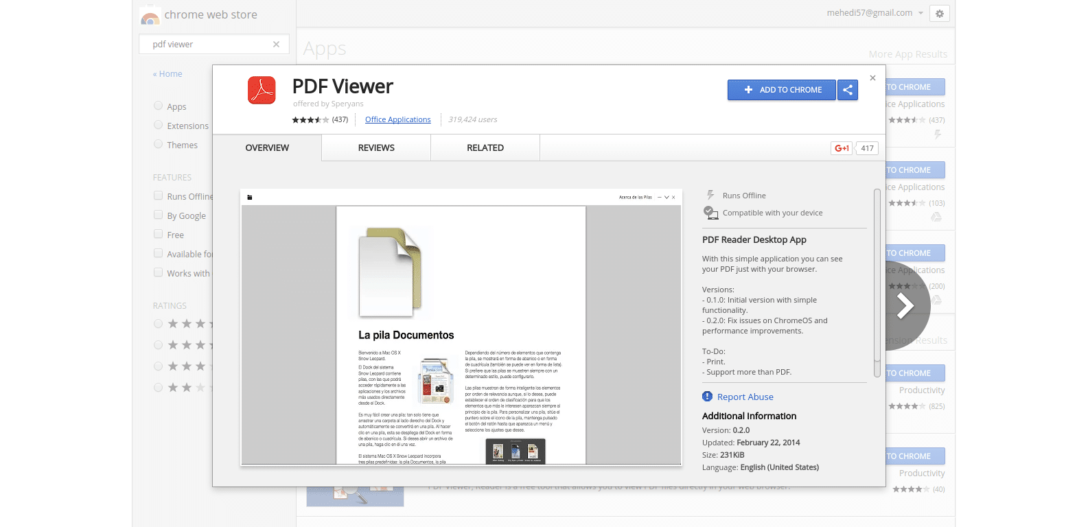 Reading Books Offline Using PDF Viewer