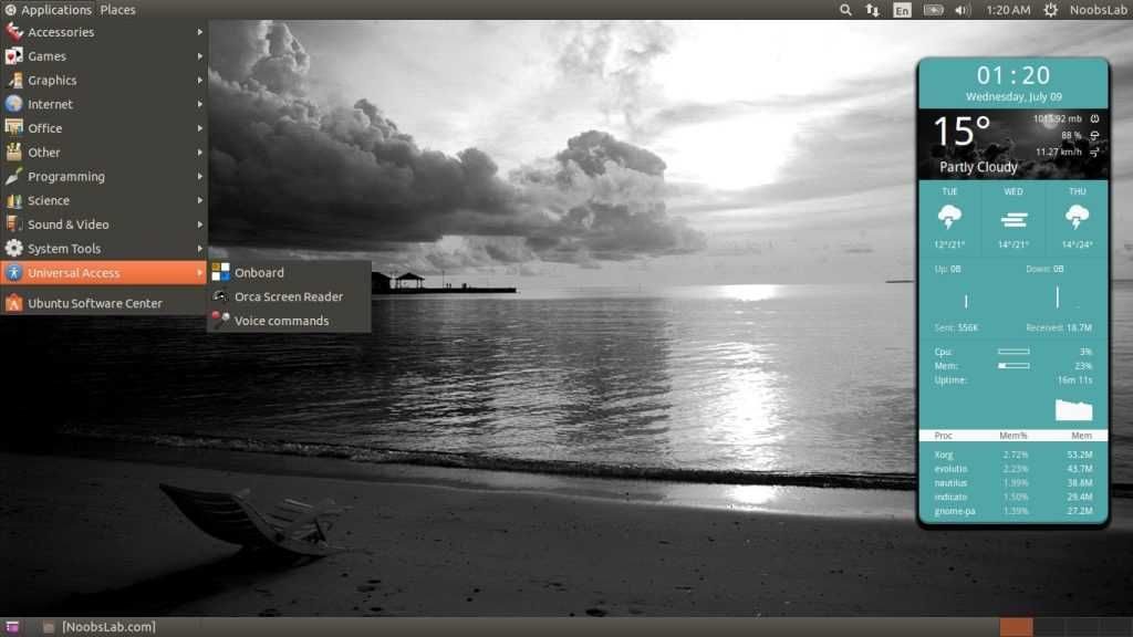 Gnome Fallback-Flashback In Ubuntu-Linux Mint