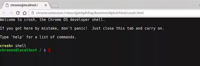 Chromebook developer option - Shell command