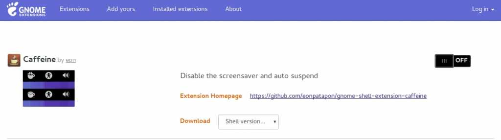 Gnome Shell Extension disable