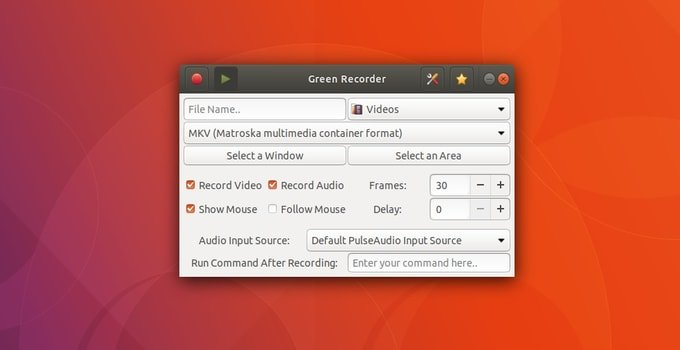 Green Recorder for Ubuntu Linux