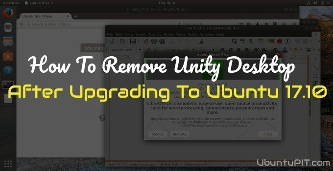 Remove Unity Desktop after Upgrading To Ubuntu 17.10