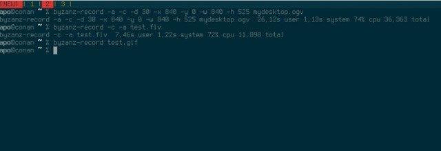 Byzanz for Linux Screencasting