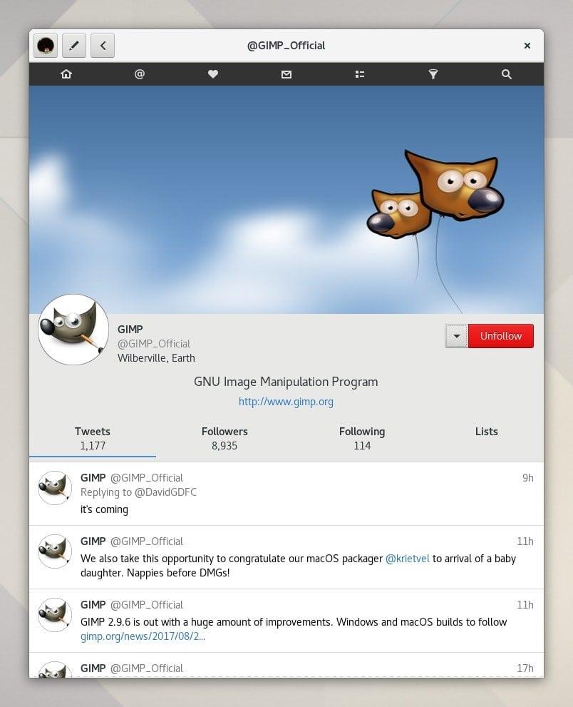 Corebird - An Open Source GTK+ Twitter Client-4