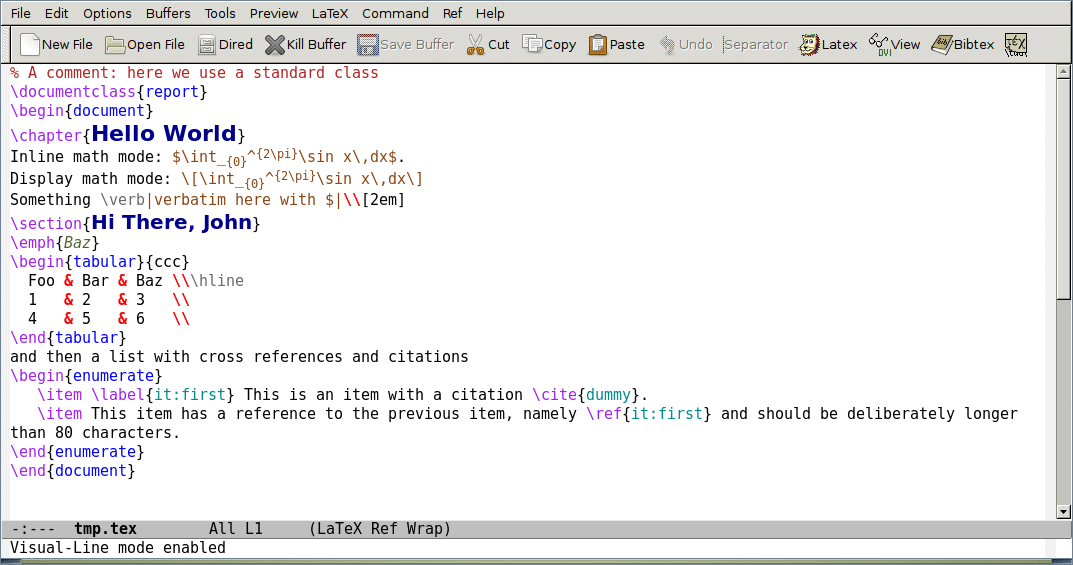 Emacs with AUCTeX