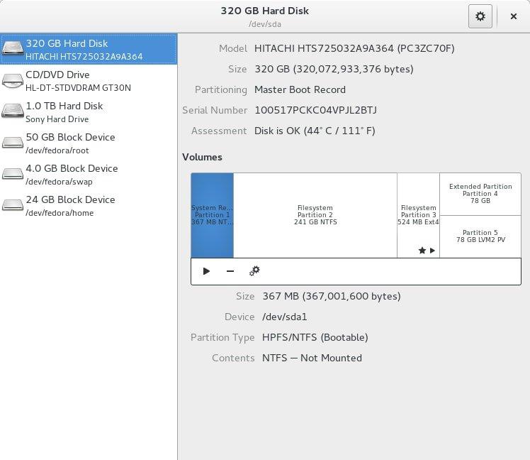 GNOME Disks Utility