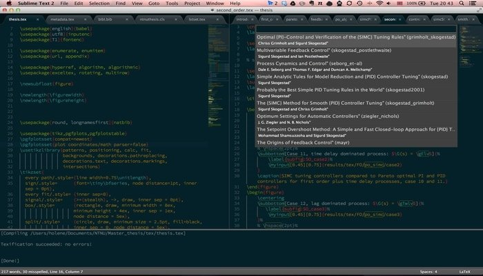 Sublime Text with LaTeXTools or LaTeXing Plugin