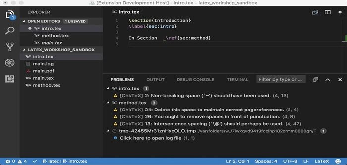 Visual Studio Code with LaTeX-Workshop