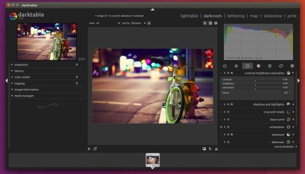 Darktable - an Open Source Photography Application for Ubuntu
