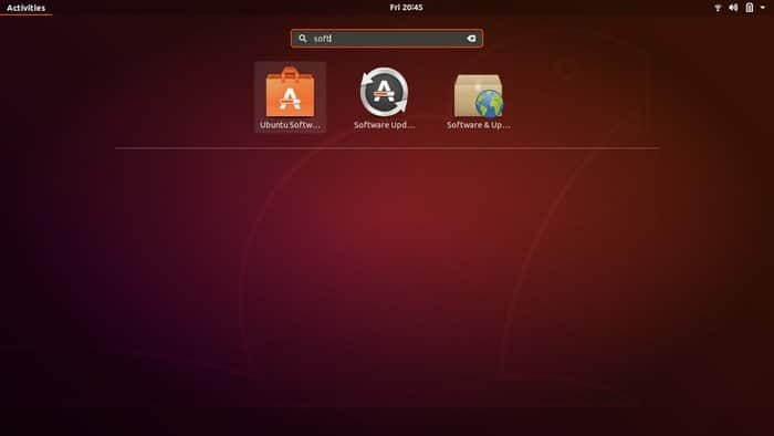 Search Ubuntu software center