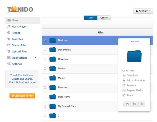 Tonido - A Free Private Cloud Server