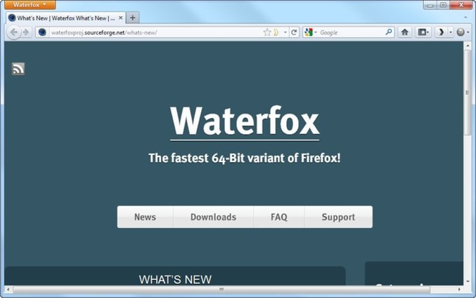 Waterfox browser for Linux
