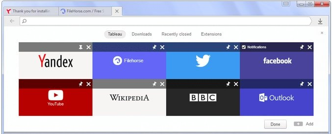 Yandex browser for Linux