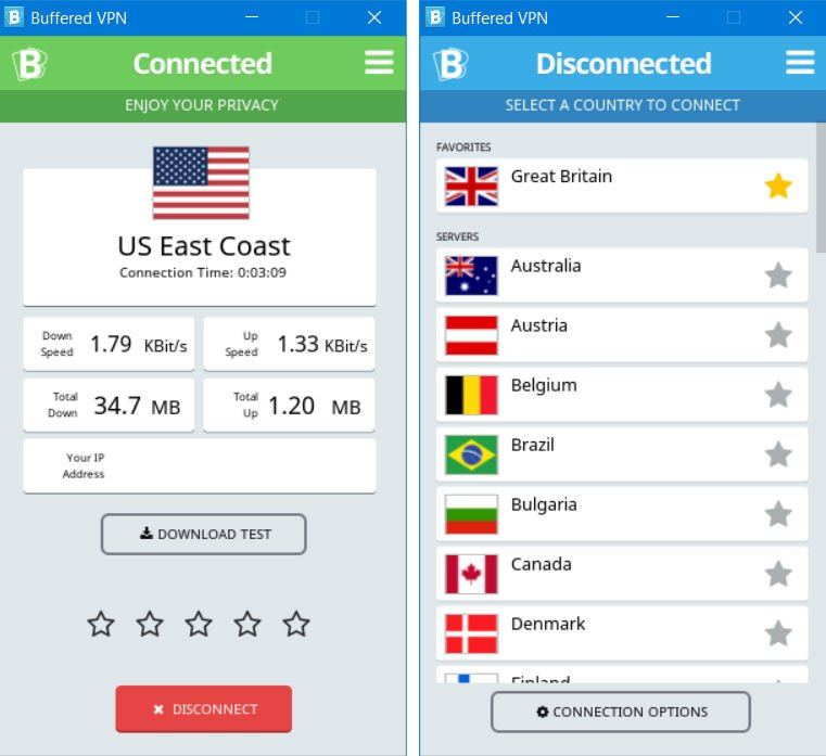 Buffered VPN - Private, Safe and Fair