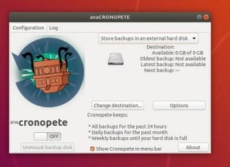Cronopete configuration - Time Machine backup tool
