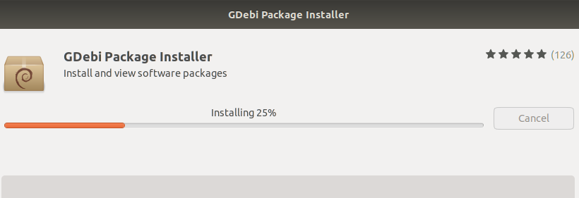 Gdebi package installer on Ubuntu software center