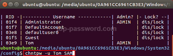 How To Reset Windows Login Password with Ubuntu Linux Live CD