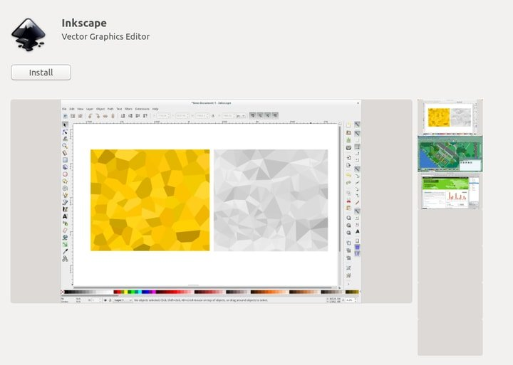 Install Inkscape from Ubuntu software center