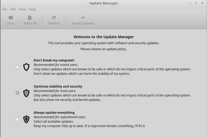Linux Mint System Update Tool