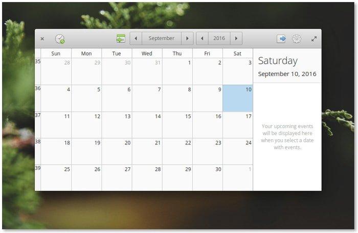 Elementary OS Calendar App