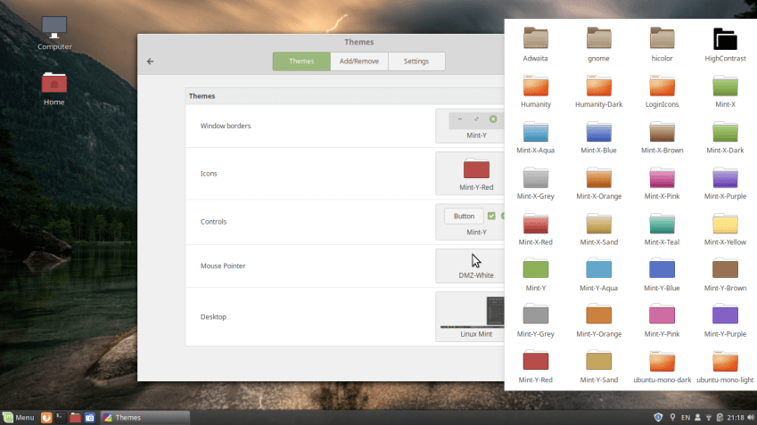 Linux Mint Themes and Icons
