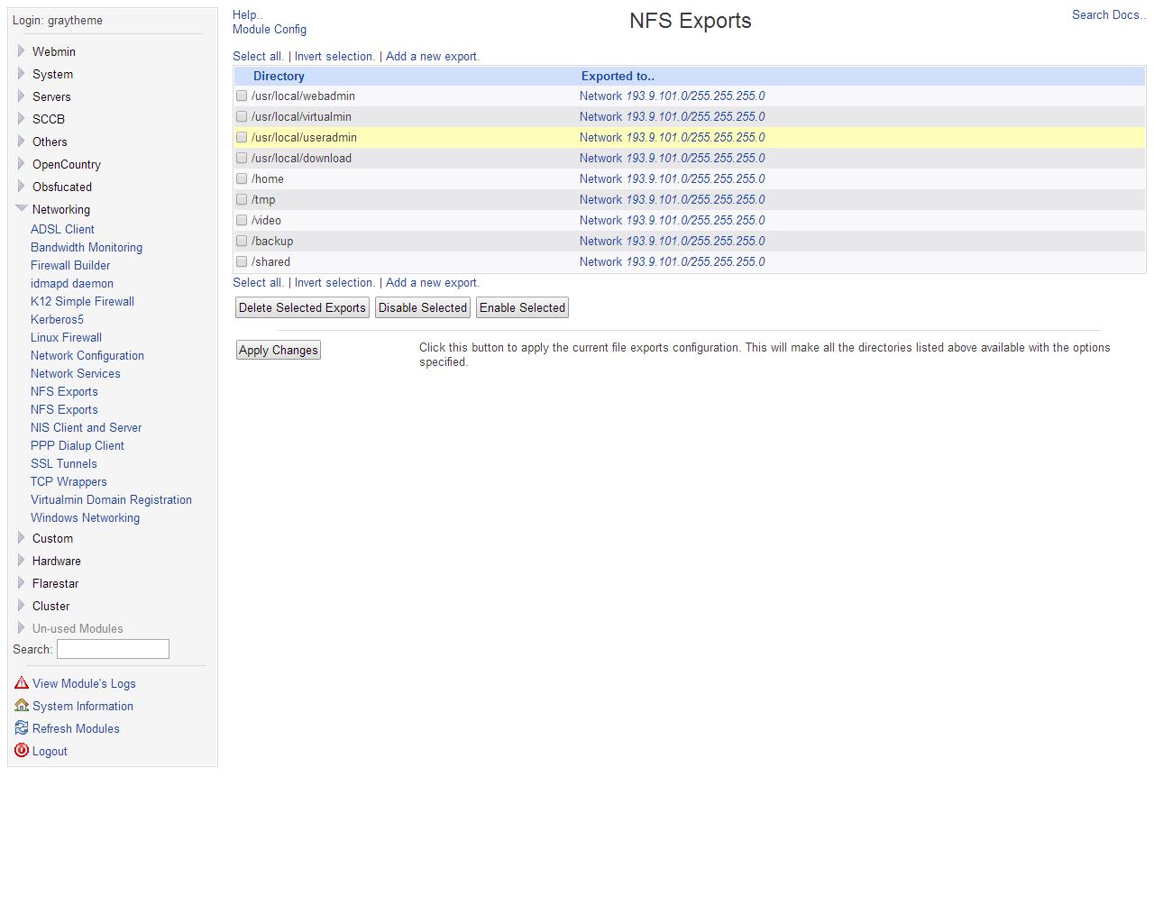 NFS Export