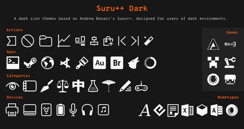 Suru++ Dark Icon