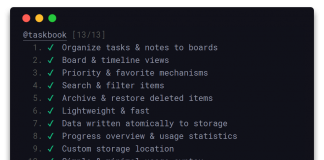 Taskbook - A Board-based Tasks and Notes App for Linux