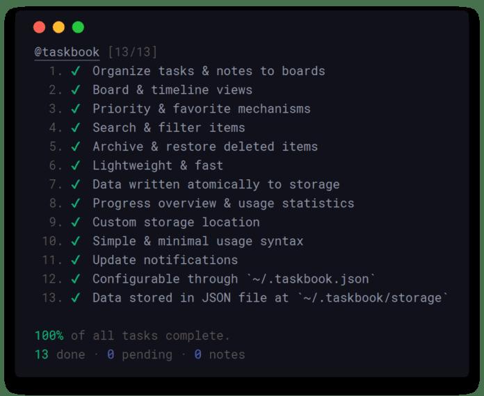 Taskbook - A Board-based Tasks and Notes App for Linux