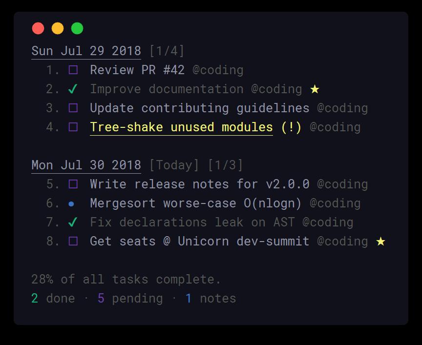 Taskbook - Timeline View