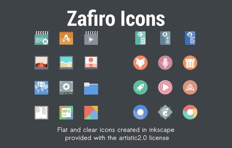 Zafiro Icons Pack