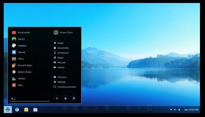 Zorin OS Windows Layout