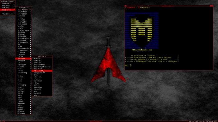 BlackArch Linux-fluxbox