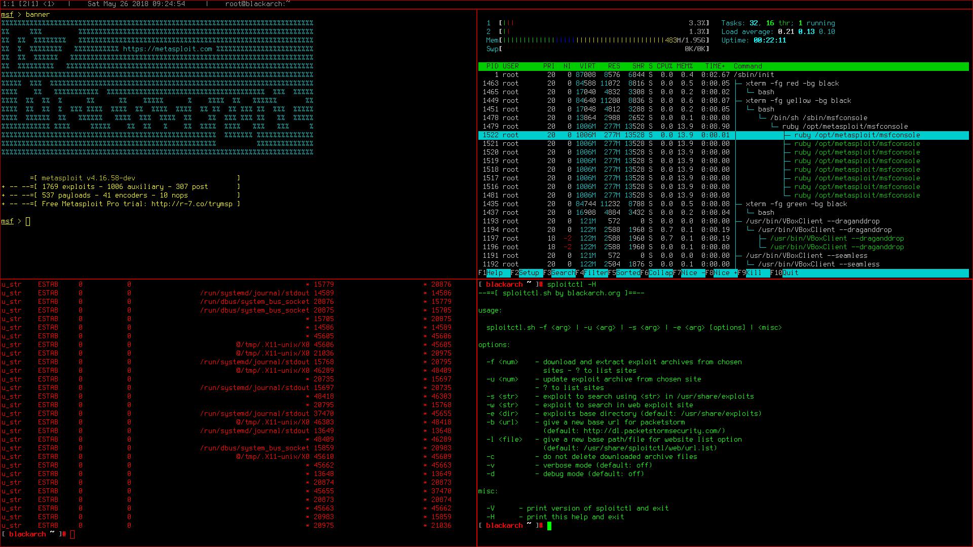 BlackArch Linux-spectrwm