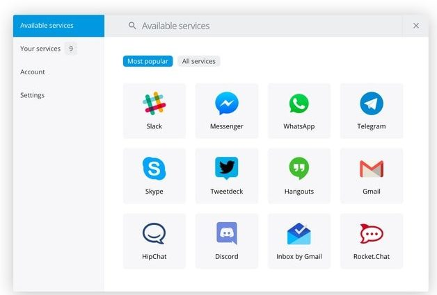 Franz - A Free Messaging and Chat app