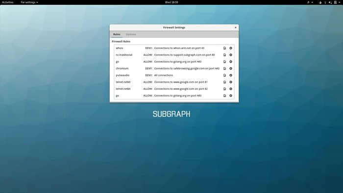 Subgraph OS-Firewall Config