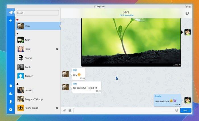 Cutegram in Ubuntu