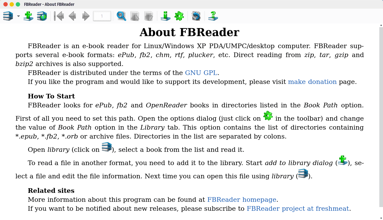 FBReader – A Lightweight & Multi-Platform Ebook Reader