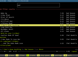 Musikcube – A Cross-platform and Terminal-based Music Player