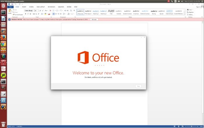 Windows Office Power Point on CrossOver Linux