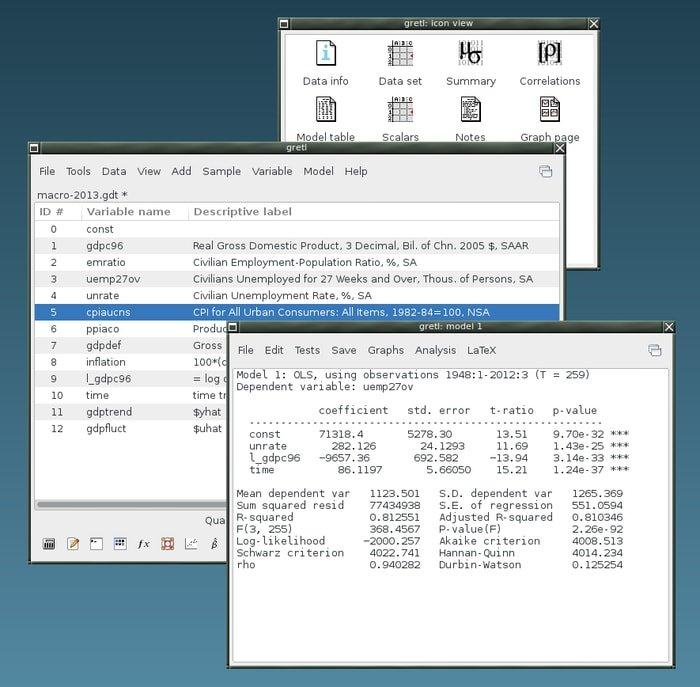 Gretl Econometric Software