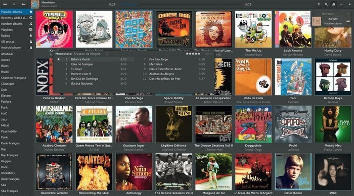 Lollypop music player Radio Streaming Software for Linux