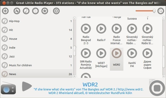 great little radio player Radio Streaming Software for Linux