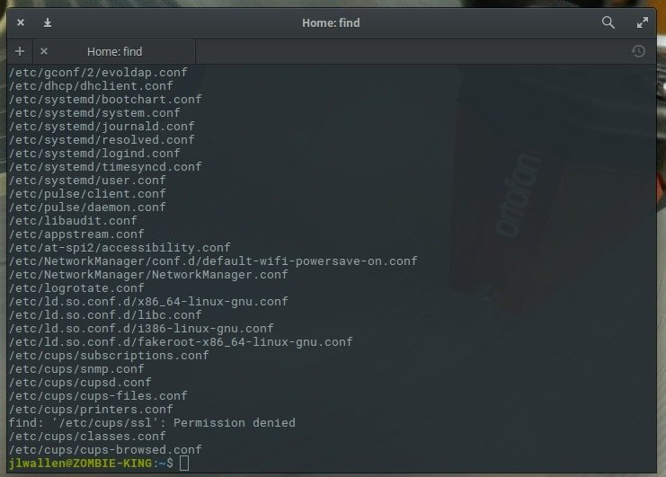linux commands for search and re