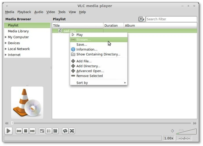 VLC Radio Streaming Software for Linux