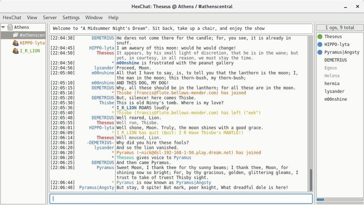 HexChat in IRC clients for Linux