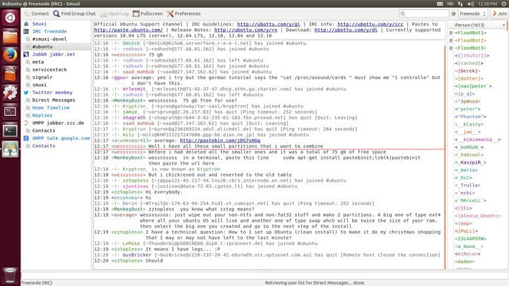 Smuxi IRC software