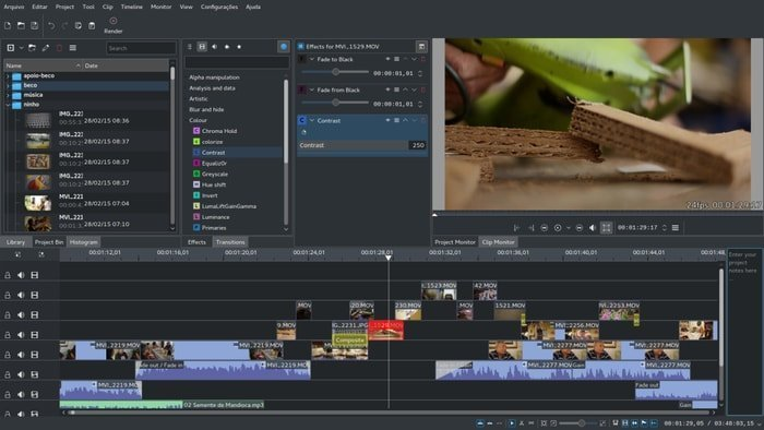 Kdenlive - Multi-track video editing
