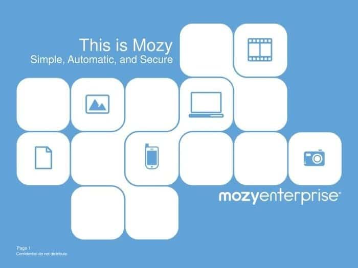 Mozy cloud storage for android