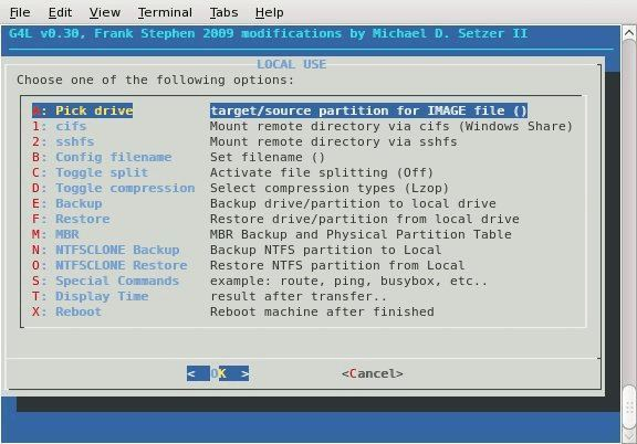 G4L Disk Cloning Software for Linux machines